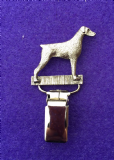 Dog Show Breed Ring Number Clip - Dobemann - FULL BODY Silver or Gold Style